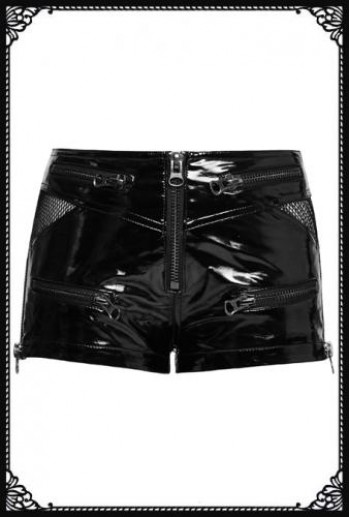 Punk-Rave Punk pvc shorts