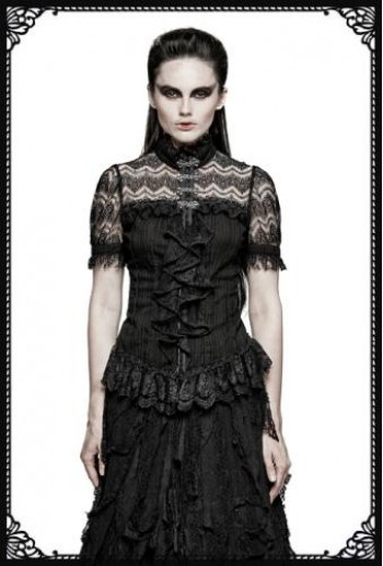 Punk Rave Lace Ruffles Shirt