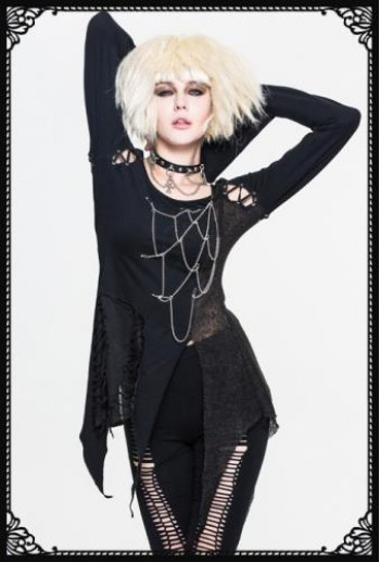 DevilFashion Cobweb Chain Sweater
