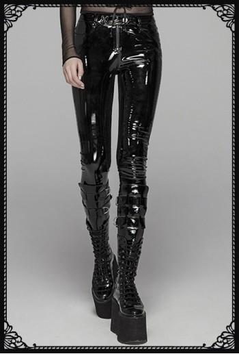 Punk Rave Soraya wet-look pants
