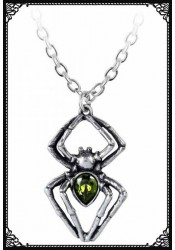 Emerald Spiderling Pendant - Alchemy