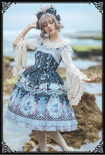 Little Mermaid Deep Blue Lolita Dress