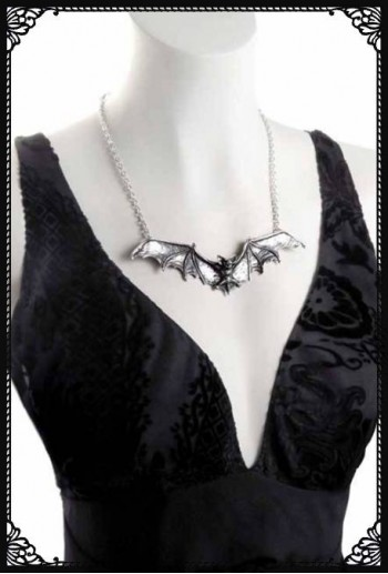 Gothic Bat Necklace - Alchemy
