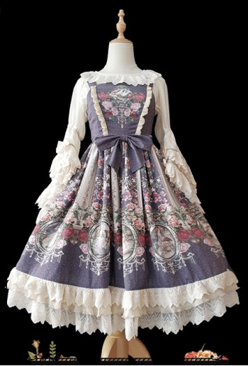 Royal Painting Purple Lolita Dress