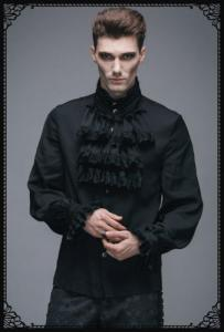 Punk-Rave Gothic noble shirt(BK)