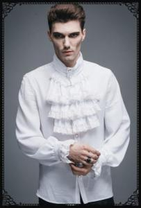 Punk-Rave Gothic noble shirt(WH)