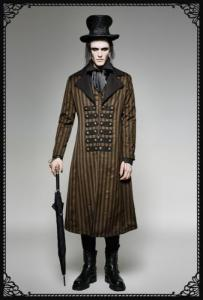 Punk-Rave Steampunk Stripe Coat