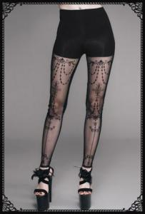Eva Lady Gothic see throught pattern leggings