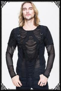 DevilFashion Hole Mesh Shirt