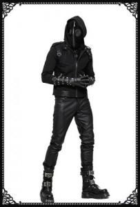 Punk Rave Death Plague Mask Hoodie